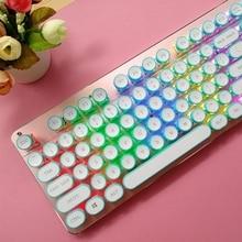 DIY Keycap Retro Steam Punk Typewriter Mechanical Keyboard 108 Keys