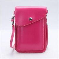 PU Leather Phone Bag Shoulder Pocket Wallet Pouch Case Neck Strap For Leagoo C9 KIICAA MIX