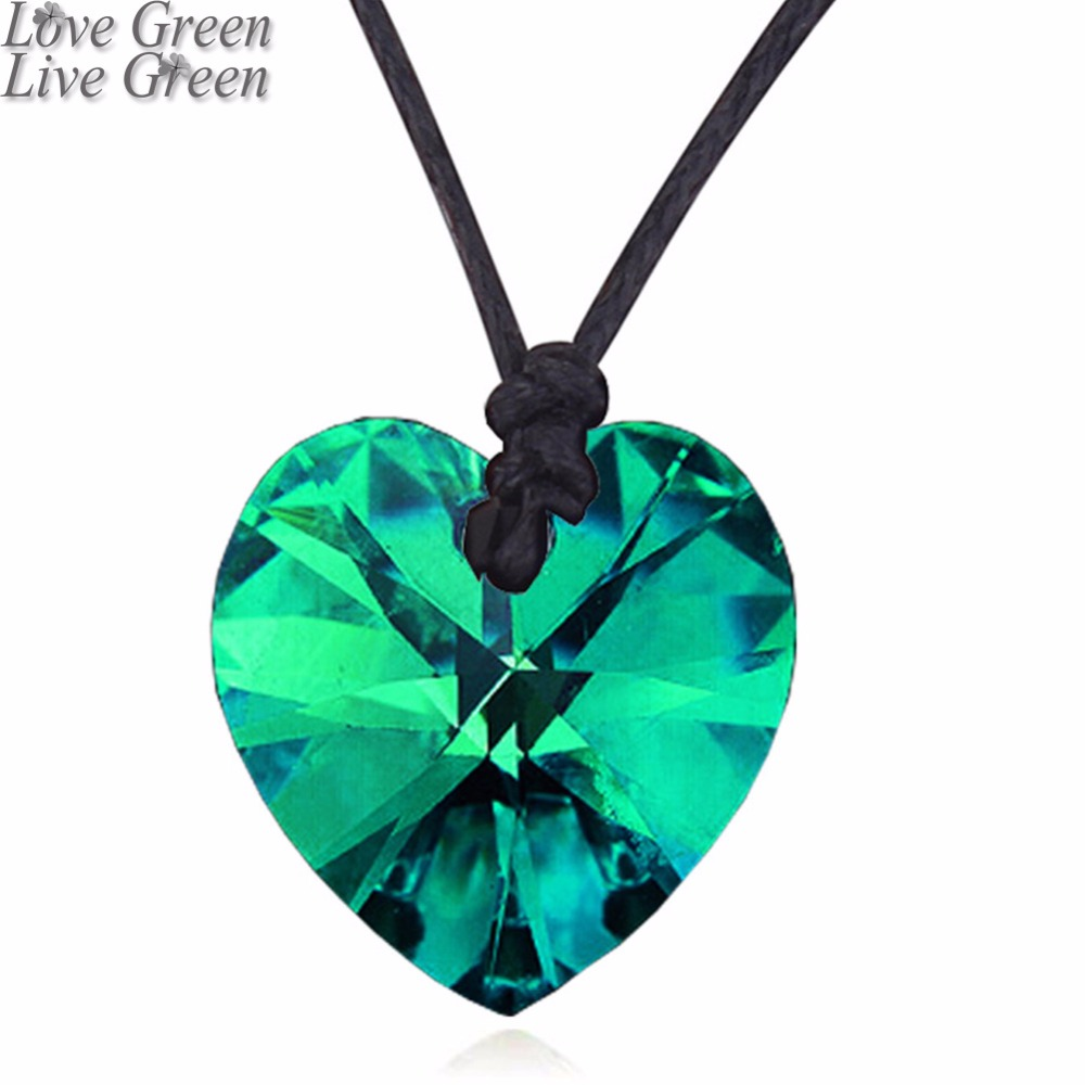 float promotion birthday gift women girl Free Shipping Wholesale fashion Austrian Crystal heart Pendant Necklace jewelry 84776