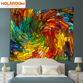 ed0396cc535b Tapiz para colgar en la pared bohemio de macramé de Mandala Hippie  decorativo con estampado de ...