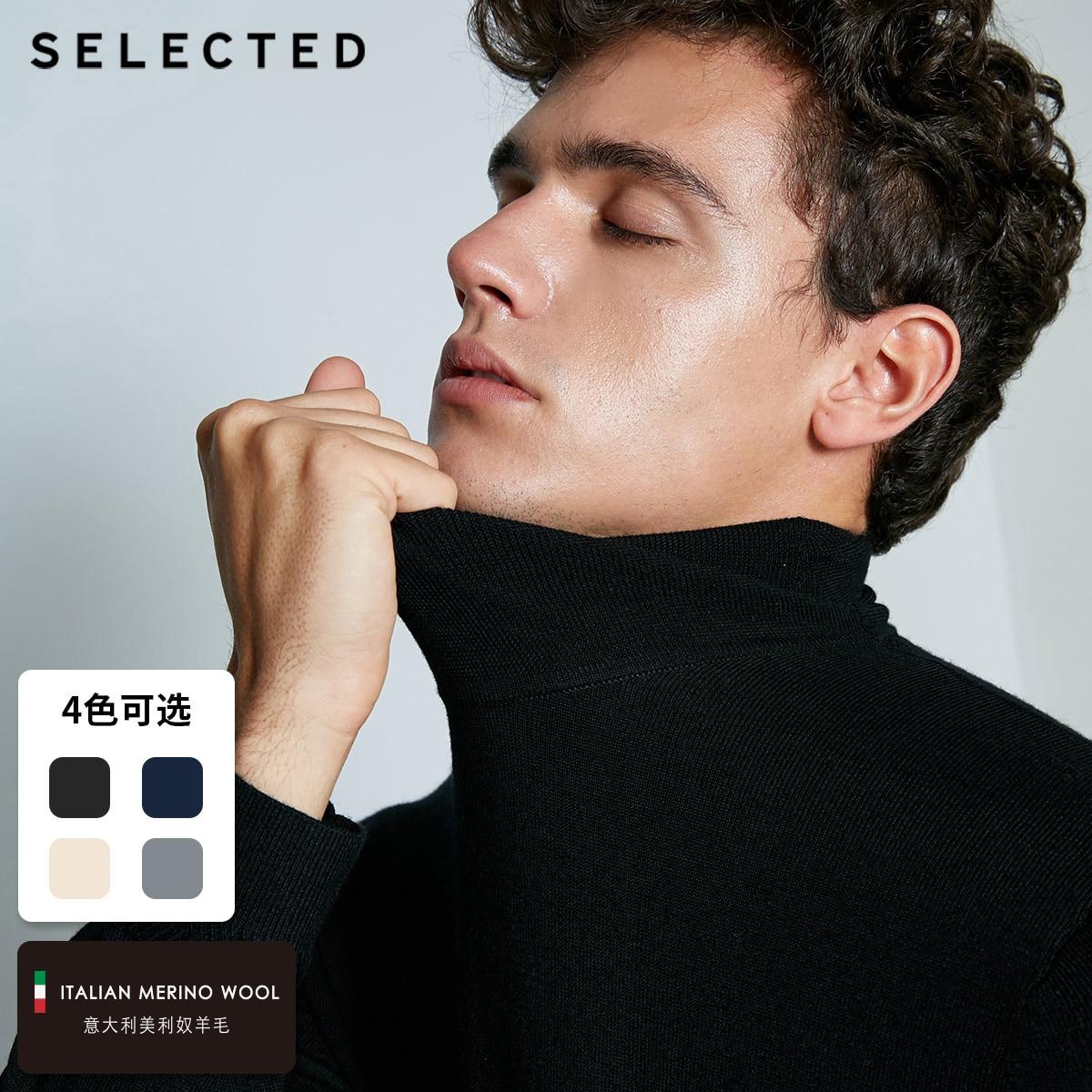 SELECTED Blackrock's New Men Leisure Italian 100% Wool Sweater Sweater S | 418424502
