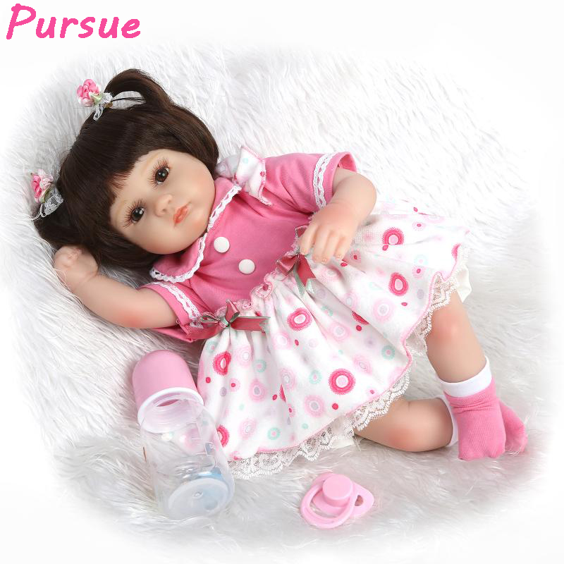 Pursue Doll Reborn Baby Alive American Girl Doll for Girls Boys Mini Toys bebe reborn com corpo de silicone Baby Dolls for Sale silicone reborn baby dolls for sale 22 55cm bebe com corpo de silicone bonecas girls toys gift real ture looking