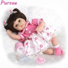 Poursuivre Poupée Reborn Baby Alive American Girl Doll pour Filles Garçons Mini Jouets bebe reborn com corpo de silicone Bébé Poupées pour vente