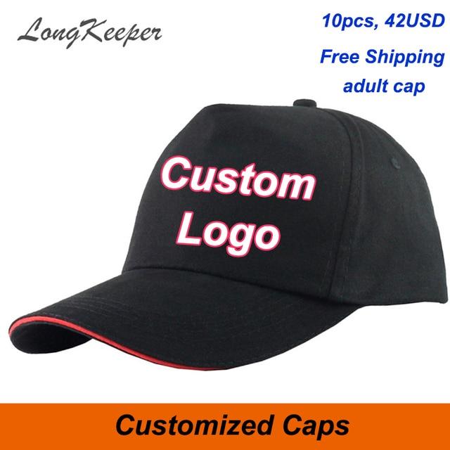 LongKeeper Personalizado Boné de beisebol Bonés trucker Prendedor de Fita  ajustável Chapéu Logotipo Personalizado imprimir Texto 72520df29c8