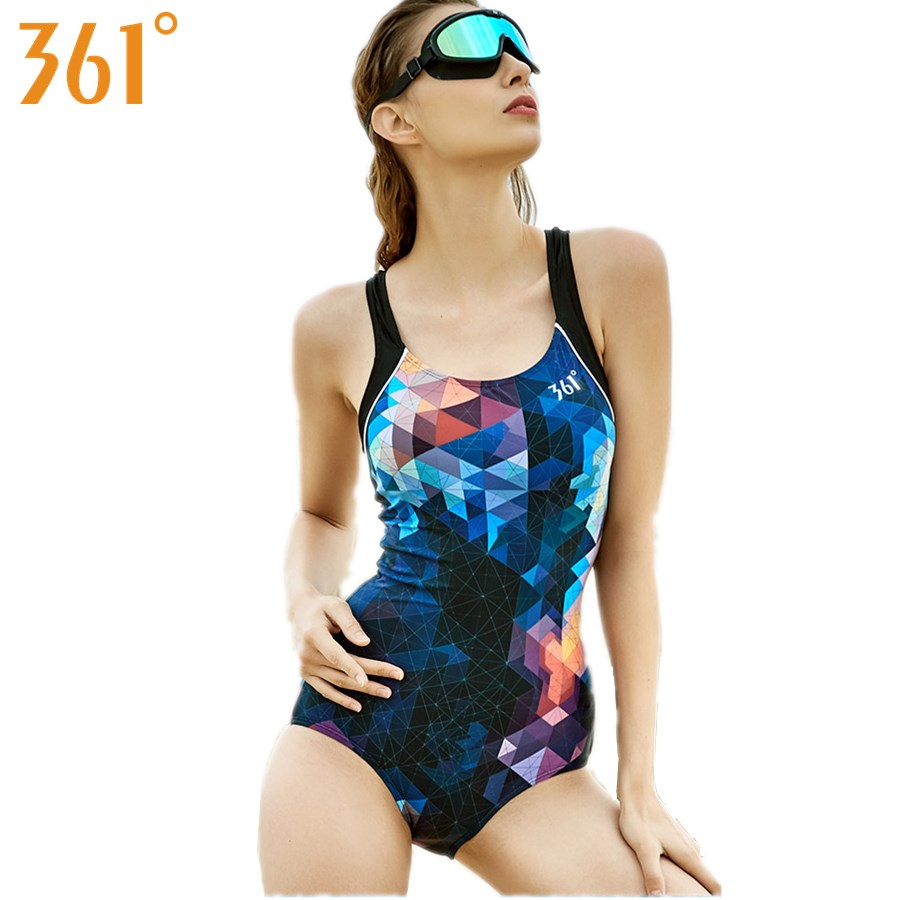 361 Athletic Swimsuit for Women Professional Sports Racing Swimwear One-Piece Suit Female Monokini 2018 Women Bathing Suit Pool