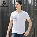 Pioneer Camp 2017 fashion t shirt men bamboo cotton summer t-shirt comfortable and breathable printed T-Shirt 677020