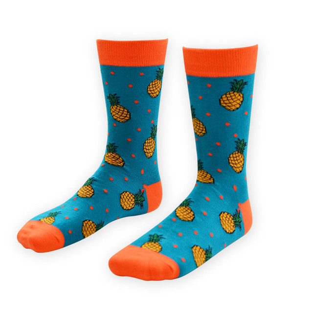 Unisex Socks Art Abstraction Creative Pattern Fruit Pineapple Women Men Socks