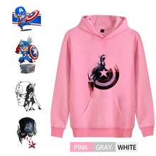 Captain America Marvel Avengers hero Graffiti Personalise Men/woman Hoodie sweatshirts Kangaroo Pocket Casual Teen  A193291