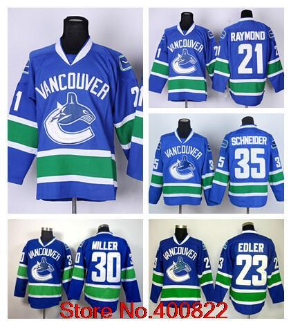 newest 2d037 09264 30 Ryan Miller Men Vancouver Canucks Jersey 23 Alexander ...