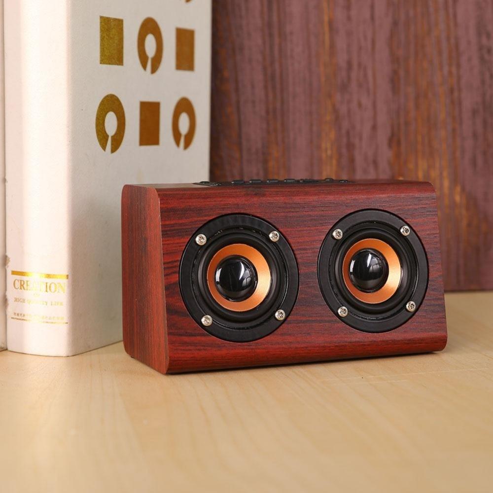 Avanshare Leseni Bluetooth zvočnik Retro Wood HIFI 3D Dvojni - Prenosni avdio in video - Fotografija 6