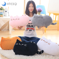2016 Popular Kawaii Biscuits Cats 35 50cm Animal Pillow Cushion PP Cotton Filling For Kids Home