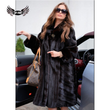 BFFUR Fashion Mink Coats For Women Plus Size 2018 Winter Palace Fur Coats From Natural Fur New Leather Jacket Female Full Pelt