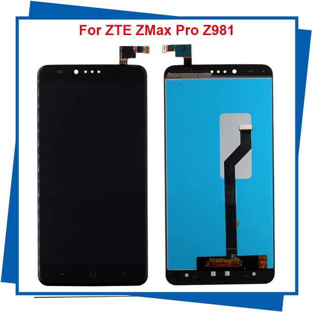 For ZTE ZMax Pro Z981 LCD Display with Touch Screen Digitizer Smartphone Replacement for ZTE Z981 Black HighQuality Free Tools