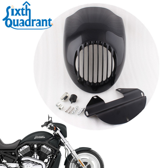 Glossy Black Head lamp Visor Grill Headlight Cowl Fairing Mask For