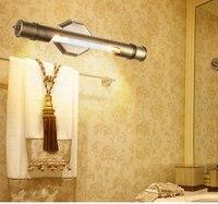Спальня старинные светодиодный настенные светильники гардеробная Ретро Медь Настенные светильники Ванная комната зеркало светодиодный с
