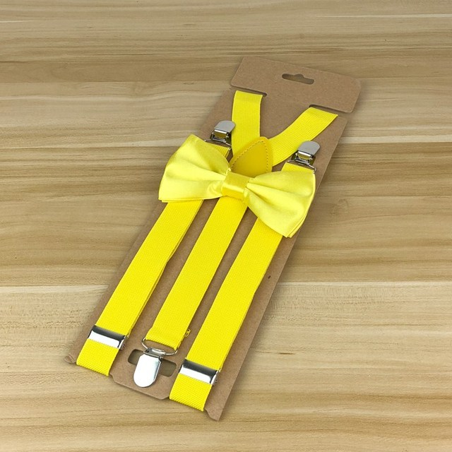 Bow Tie and Suspenders Set (25 Colors)