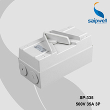 Saip Saipwell IP67 European Australian 500V 35A 3P Industrial Electric Waterproof Isolating Switch SP 3P35A