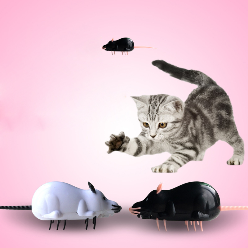 Electric Mouse Pet Toys for Cat Mouse Racer Simulation Moving Funny Fake Mice Training I ...