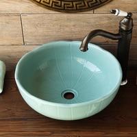 A1 Creative round ceramic washbasin above counter basin wash basin art basin wash LO628527
