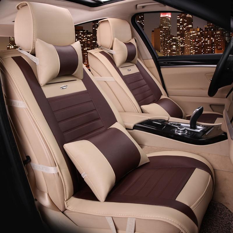 Siège de voiture plein cuir grand siège coussin nouvelle voiture siège housse coussin fabricants en gros quatre saisons