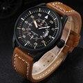 2016 Relógios de homens marca NAVIFORCE 9044 luxo de Quartzo Relógio de mergulho 30 M Militar Do Exército Sports watch relogio masculino de Couro Ocasional