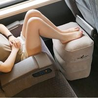 Two Valves Adjustable Height Inflatable Travel Pillow Kid Flight Footrest Pillow Cushion X5XD
