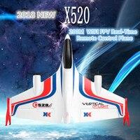 WIFI FPV Foam remote control RC glider X520 2.4G 6CH 720P HD camera Vertical take off landing dual Brushless stunt RC Plane RTF