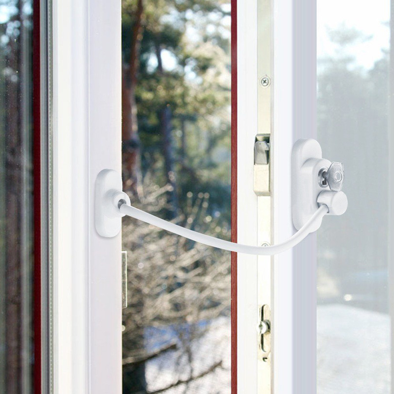1 Pc Window Door Restrictor Security Locking Cable Wire Child Baby ...