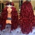 1b/Red Ombre Full Lace Human Hair Wigs For Black Women 150% Dark Roots Ombre Front Lace Wigs Glueless Middle Part Full Lace Wigs