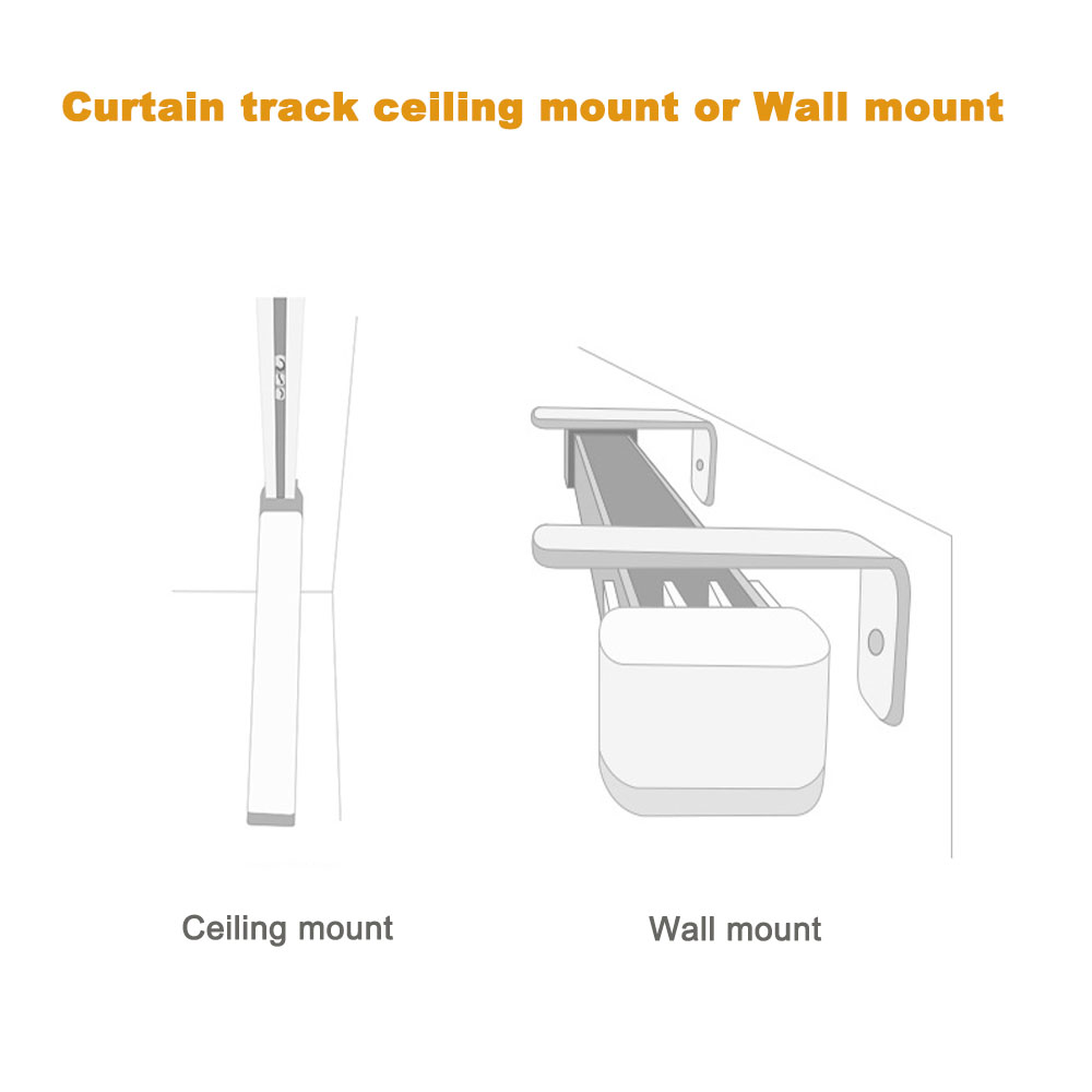 Image 4 - Customized High quality Super Quiet Electric Curtain Track for Xiaomi and DOOYA Curtain motor, Super Silent Curtain rail-in Automatic Curtain Control System from Home Improvement