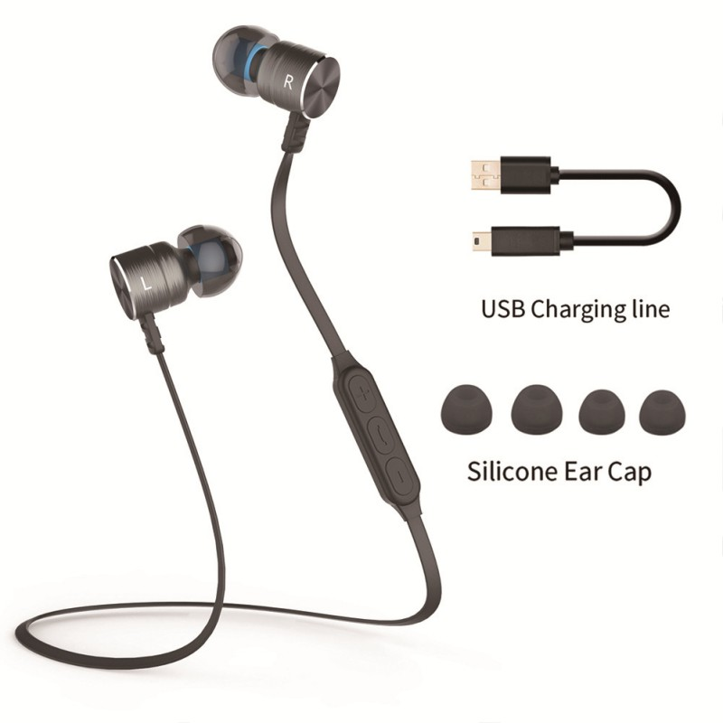 NEW BX325 Metal Magnet In-ear Auriculares Bluetooth Earphones Wireless Sport Earphone Earbuds with Mic Handsfree handsfree call metal earphones with mic