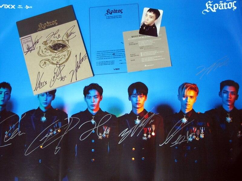 VIXX autographiée signé mini 3ème album KRATOS CD + photobook nouvelle version coréenne 11.2016