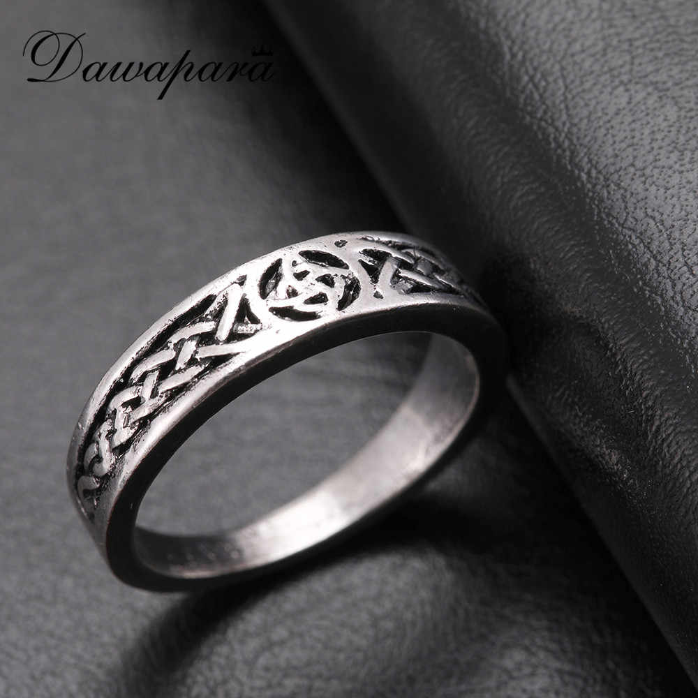 Dawapara Classic Irish Knot Triquetra Trinity Ring Men Or Women Jewelry Cute Rings For Girls