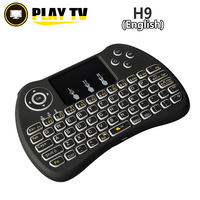 Original Backlight I8 I8 H9 PC Gaming 2 4G Wireless English Keyboard Backlit With Touchpad For