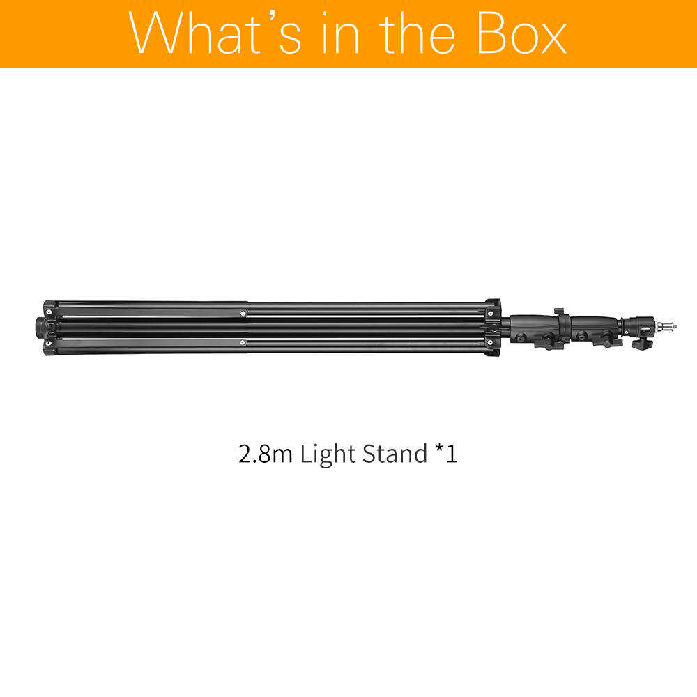 AMBITFUL 280cm Air Cushioned Light Stand  1/4″ and 3/8″ Screw Air Pressure Light Stand Supportable Middle for Studio Flash
