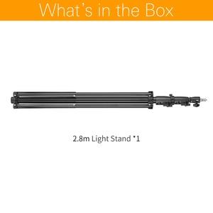 """Image 2 - AMBITFUL 280cm support de lumière à coussin dair 1/4 """"et 3/8"""" support de lumière à pression dair à vis support Supportable pour Flash de Studio"""