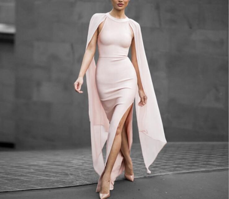 Bandage robe femmes soirée soirée été robe longue robe Vintage élégant