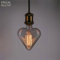 Bombilla incandescente vintage edison e27, bombilla de filamento de 40W para decoración del hogar, venta al por mayor