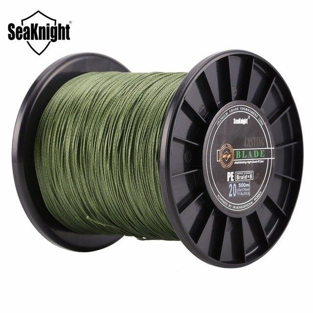 SeaKnight سوبر قوي 8 ستراند ينسج صنارة صيد بولي ايثيلين مجدول 500 متر 120LB 150LB 200LB 250LB 300LB multi606 سمك الشبوط الصيد