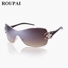 ФОТО hot polarized sunglasses woman sunglasses retro diamond logo sunglasses ladies one piece goggle style vintage sunglasses