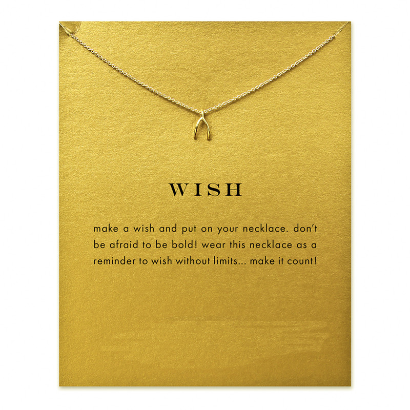 Hot sale sparkling wish wishbone necklace gold dipped18k statement hot sale sparkling wish wishbone necklace gold dipped18k statement necklace women jewelry s004 in chain necklaces from jewelry accessories on aloadofball Gallery