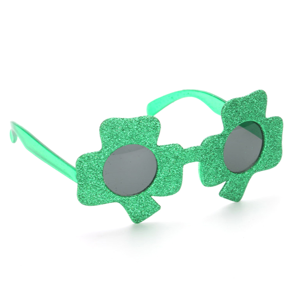 Men's Eyewear Frames Glorious Funny Shamrock Design Sunglasses Creative Holiday Cosplay Costume Glasses Accessory