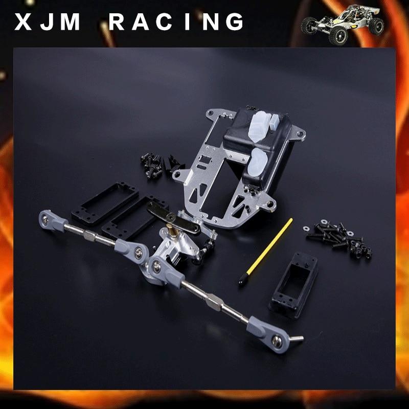 CNC metal symmetrical steering Kits plastic rod version fit for hpi baja 5b ss 5T RC