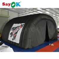 5*4*3,3 м черная уличная надувная палатка надувной навес для автомобиля надувной тент для вечеринок с занавеской для коммерческих мероприятий
