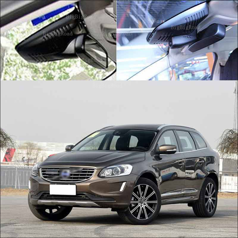 BigBigRoad For volvo XC60 high Configured 2015 Car Driving Video Recorder Hidden type Car Wifi DVR Dash Cam no damage to car пламенный мотор машинка инерционная volvo пожарная охрана