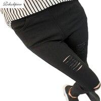 Rihschpiece leggings high waist jeggings women font b leggins b font black plus size ripped legging.jpg 200x200