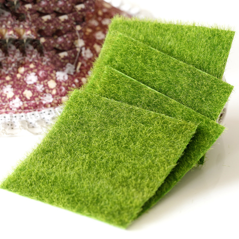 15x15/30X30cm Artificial Grass Mat Real Touch Fake Moss Green Artificial Plant Lawn Turf Carpet Farmhouse Wedding Party Supplies