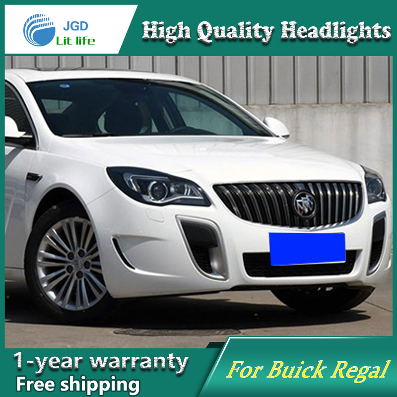 Car Styling Head Lamp case for Buick Regal Headlights 2009-2015 LED Headlight DRL Lens Double Beam Bi-Xenon HID car Accessories 2016 stainless steel car styling front cup holder panel sequins for buick regal 2009 2016 car accessories decoration sequins
