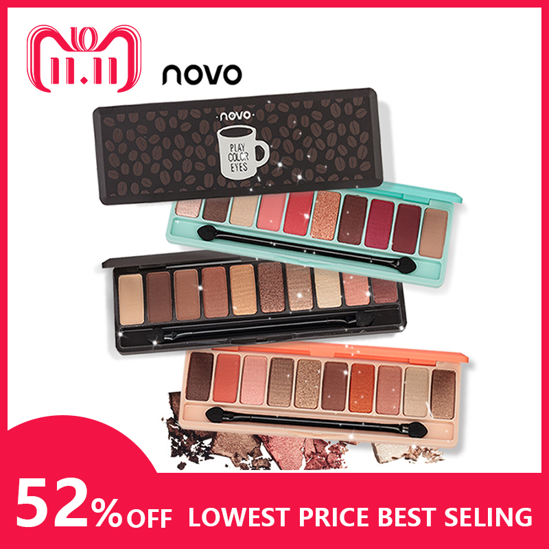 NOVO Moda eyeshadow palette 10 Cores Matte EyeShadow palette nu Brilho sombra de olho Maquiagem Nude Maquiagem conjunto de Cosméticos Coréia
