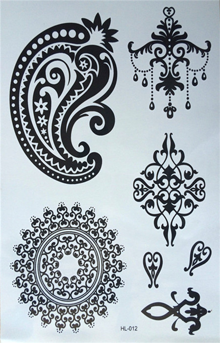Henna Style Tattoos Lace Tattoo: New Design Of Temporary Tattoos Henna Tattoos Black